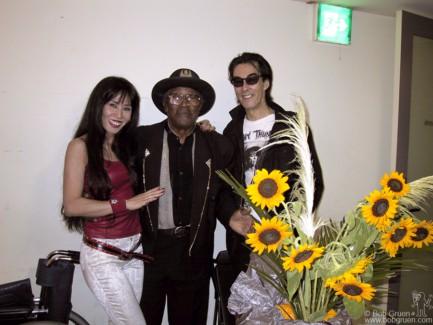 Sheena, Bo Diddley and Makoto Ayukawa, Tokyo - 2001