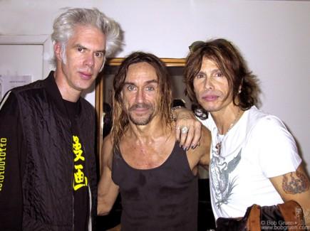 Jim Jarmusch, Iggy Pop and Steven Tyler, NYC - 2001