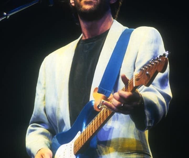 Eric Clapton, MSG, NYC. April 1985. <P>Image #: C-42  © Bob Gruen