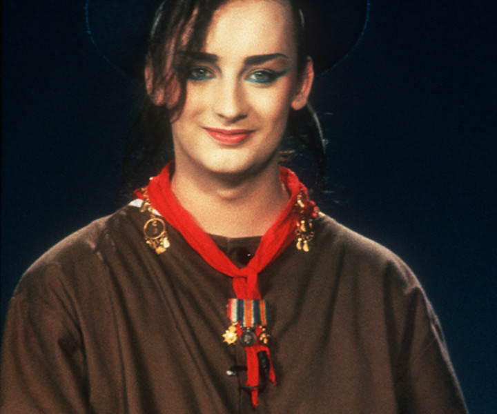 Boy George, NYC. September 1983. <P>Image #: C-89  © Bob Gruen
