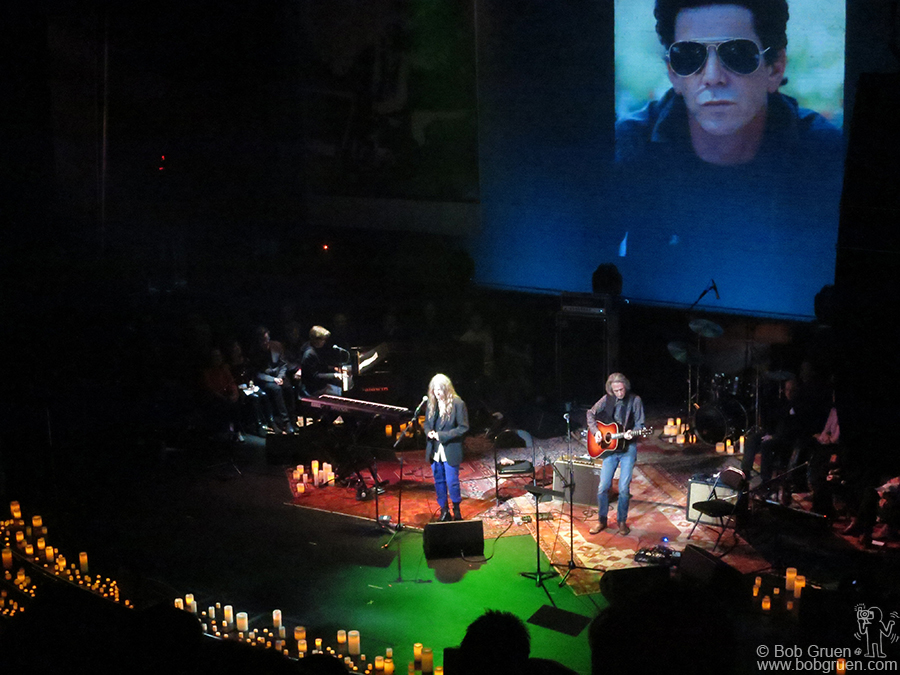 Dec 16 - NYC - Patti Smith was one of the many performers who paid tribute to Lou Reed at the memorial at the Apollo Theater.
