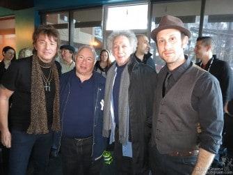 January 20 - Richie Sambora, Toby Mamis, Bob Gruen & Kris Gruen meet backstage after Kris' ASCAP show during the Sundance Film Festival in Park City, UT.