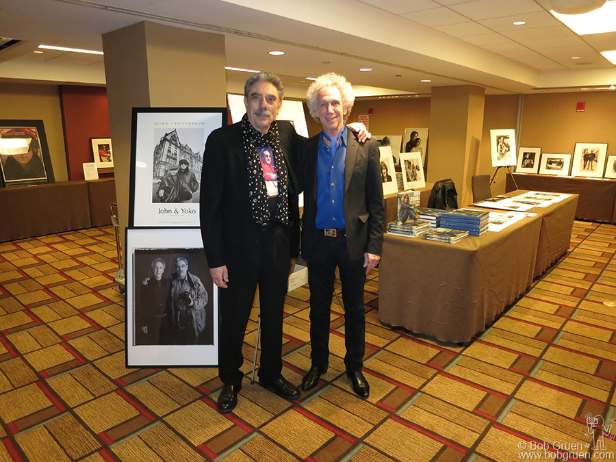 Feb 9 - NYC - Allan Tannenbaum & I shared a room to display our photos at The Fest For Beatles Fans at the Grand Hyatt hotel.