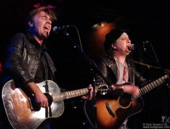 March 3 - Glen Matlock & Syl Sylvain brought their new tour to the Cutting Room, playing acoustic versions of their Sex Pistols and New York Dolls hits.