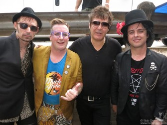 March 15 Austin, TX - The Foxboro Hot Tubs with Clem Burke at Rachael Ray's SXSW Feedback Party at Stubb's where both Blondie and Foxboro Hot Tubs played amazing sets.