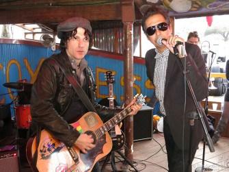 March 15 Austin, TX - Jesse Malin & Alejandro Escovedo during SXSW at Maria's Taco Xpress in Austin, TX.
