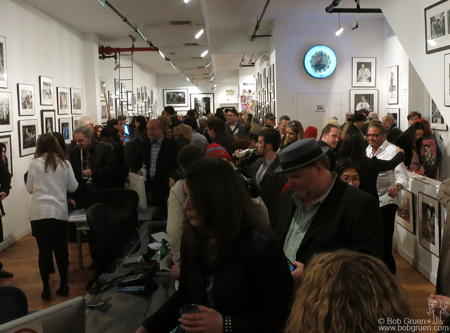 The opening night was a great party. It was crowded all night and everyone was talking about the new 'teenage bedroom' installation, the wall of contact prints and the new silkscreens.