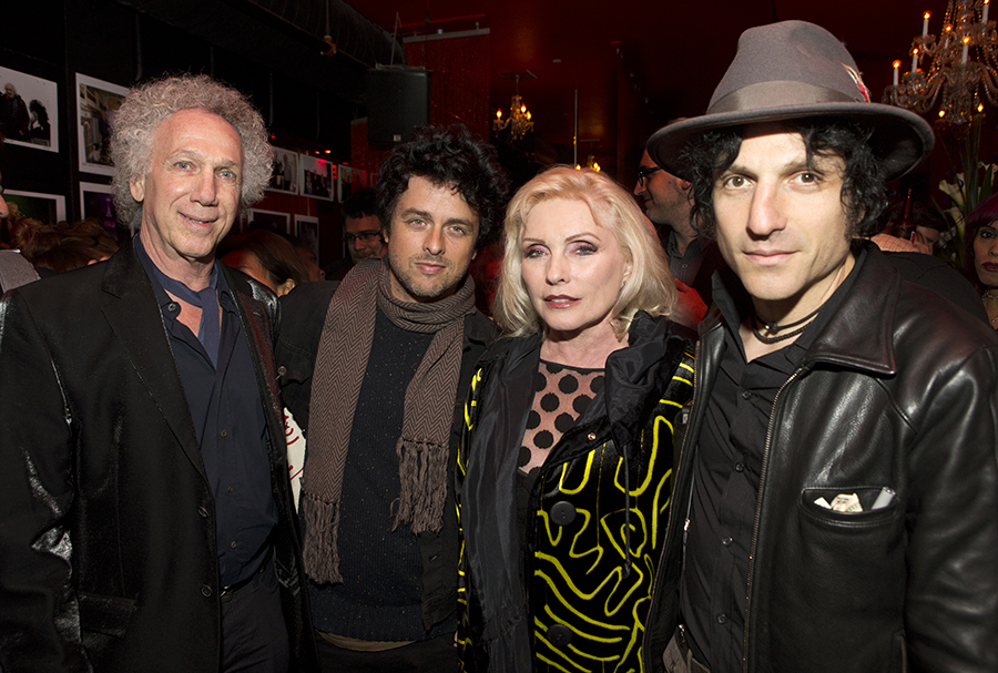 Oct 23 - NYC - Billie Joe Armstrong, Debbie Harry & Jesse Malin helped me celebrate my birthday at R Bar. Photo by David Appel.