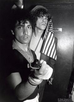 Syl Sylvain and David Johansen, NYC - 1976