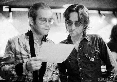 Elton John & John Lennon, NYC - 1974