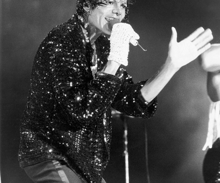 Michael Jackson, Giants Stadium, NJ. July 30, 1984. <P>Image #: R-154  © Bob Gruen