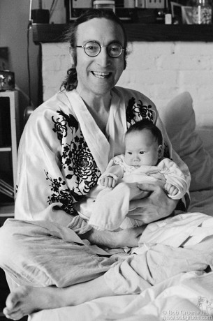John Lennon & Sean Lennon, NYC - 1975