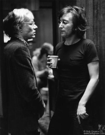 Andy Warhol & John Lennon, NYC - 1972