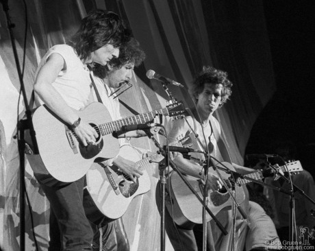 Ron Wood, Bob Dylan & Keith Richards, PA - 1985