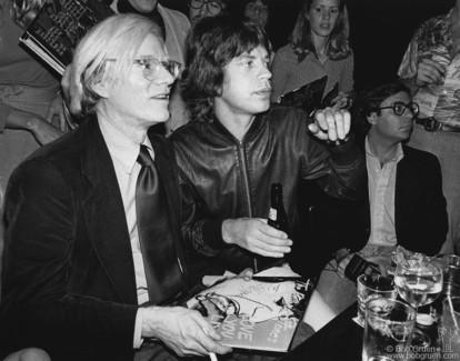 Andy Warhol, Mick Jagger and Bob Colacello, NYC - 1977