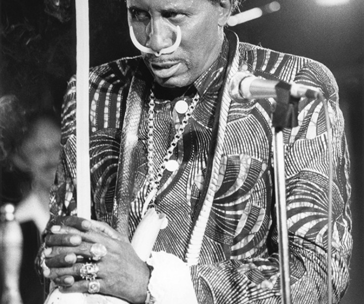 Screamin' Jay Hawkins, Paris, France. October 1989. <P>Image #: R-219  © Bob Gruen