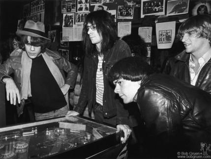 David Johansen, Lenny Kaye, Dee Dee Ramone and Andy Paley, NYC - 1977
