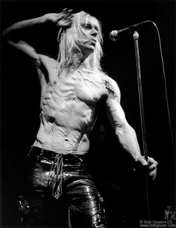Iggy Pop has the best stomach muscles in Rock & Roll, he looks good just standing still.