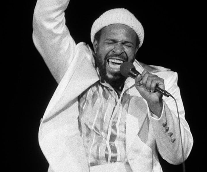Marvin Gaye, Carnegie Hall, NYC. August 25, 1974. <P>Image #: R-253  © Bob Gruen