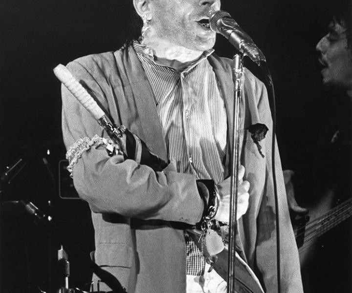 Ian Dury, Bottom Line, NYC. May 1978. <P>Image #: R-308  © Bob Gruen
