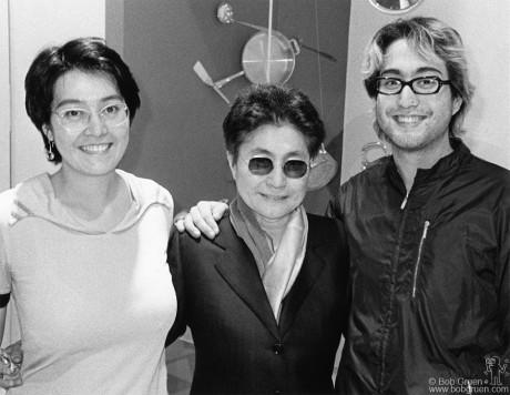 Kyoko Cox, Yoko Ono & Sean Lennon, NYC - 1998