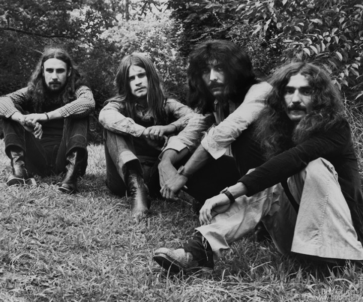 Black Sabbath, Central Park, NYC. August 15, 1971. <P>Image #: R-323  © Bob Gruen