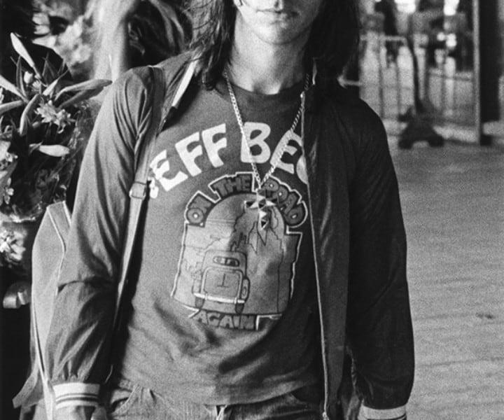 Jeff Beck, Japan. August 1975. <P>Image #: R-339  © Bob Gruen