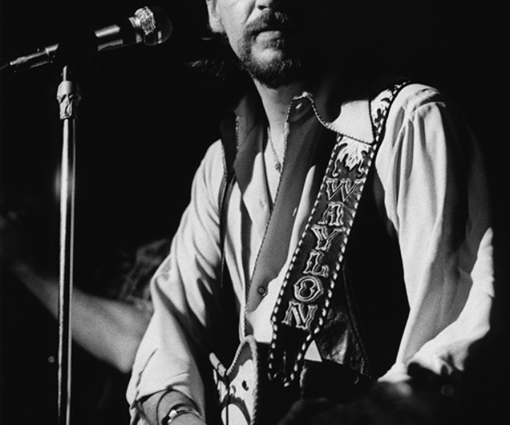Waylon Jennings, Max's Kansas City, NYC. January, 18 1973. <P>Image #: R-364  © Bob Gruen