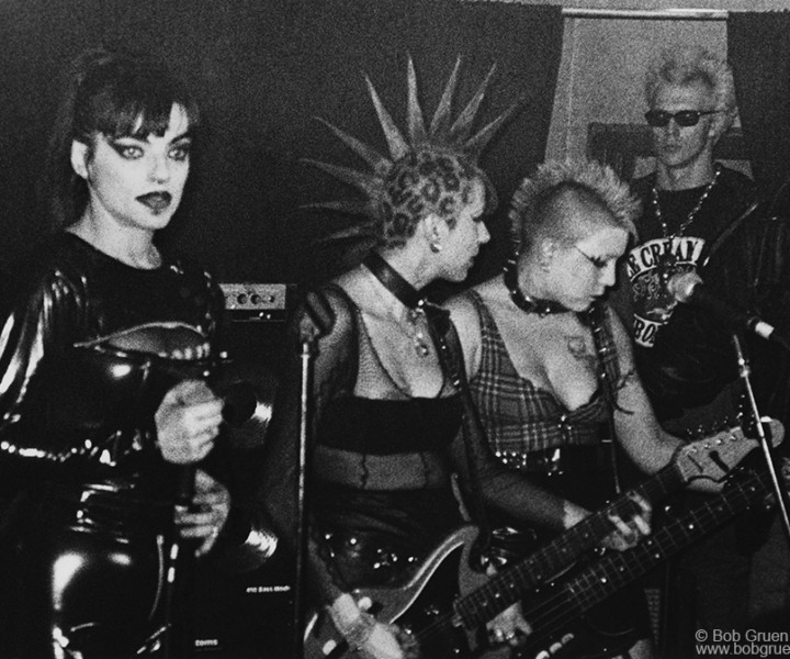 (L-R) Nina Hagen, Snap-Her and Supla, Don Hill's, NYC. February 1995. <P>Image #: R-401 © Bob Gruen