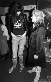 Joey Ramone and Debbie Harry, PA - 1978