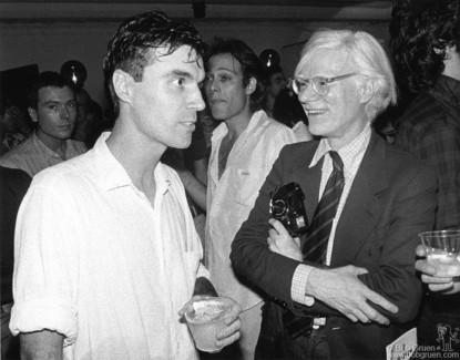 David Byrne and Andy Warhol, NYC - 1978