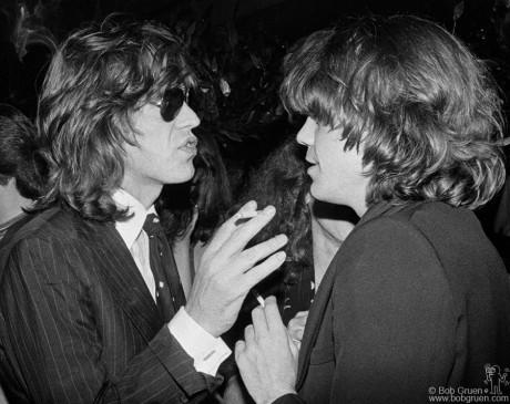 Mick Jagger & David Johansen, NYC - 1976