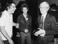 John Cale, Lou Reed and Andy Warhol, NYC - 1976