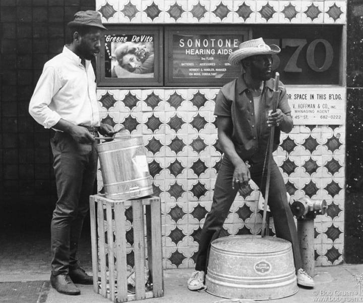 5th Avenue Street Band, NYC. June 29, 1971. <P>Image #: R-428  © Bob Gruen