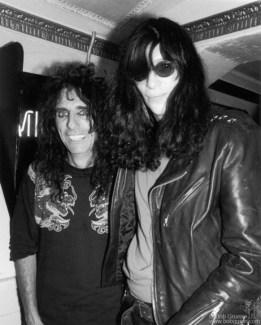 Alice Cooper and Joey Ramone, NYC - 1990
