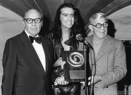 Jack Benny, Alice Cooper and George Burns, NYC - 1973