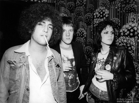 Handsome Dick Manitoba, Mark Perry & Joan Jett, London - 1977