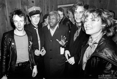 Topper Headon, Joe Strummer, Al Fields, David Johansen & Debbie Harry, NYC - 1979