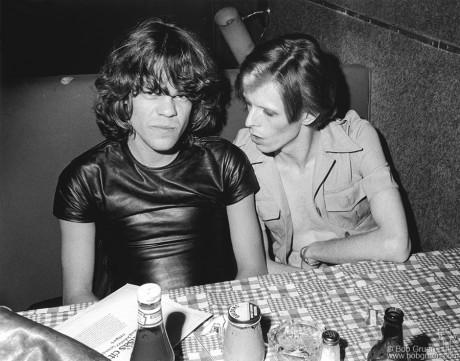 David Johansen & David Bowie, NYC - 1974