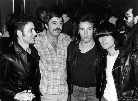 Robert Gordon, Tommy Dean, Bruce Springsteen and Dee Dee Ramone, NYC - 1977