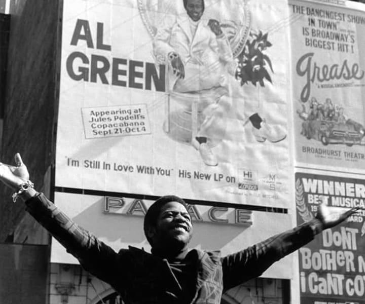 Al Green, Times Square, NYC. 1972. <P>Image #: R-445  © Bob Gruen