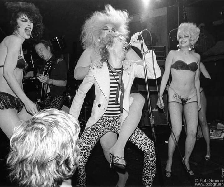 Dead Boys and Divine, CBGB, NYC. May 1978. <P>Image #: R-455  © Bob Gruen