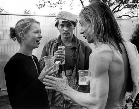 Kate Moss, Johnny Depp & Iggy Pop, London - 1996
