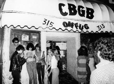 Danny Fields, Arturo Vega, Joey Ramone and David Johansen, NYC - 1977