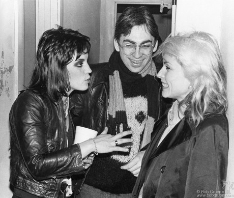 Joan Jett, Chris Stein & Debbie Harry, PA - 1978
