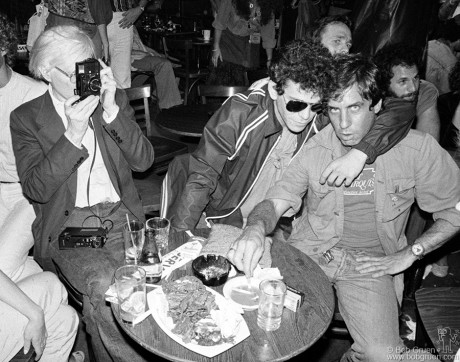 Andy Warhol, Lou Reed & Danny Fields, NYC - 1978