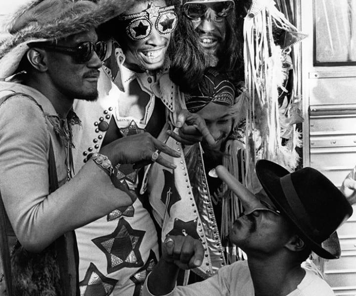 Parliament-Funkadelic, NYC. September 1977. <P>Image #: R-71  © Bob Gruen
