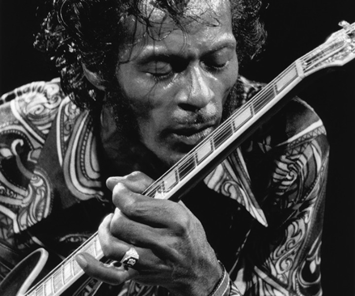 Chuck Berry, MSG, NYC. October 15, 1971. <P>Image #: R-74  © Bob Gruen