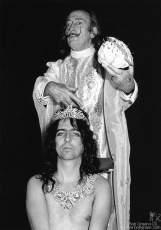 Alice Cooper & Salvador Dali, NYC - 1973