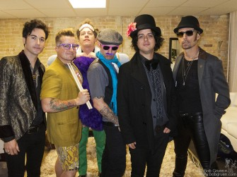 March 14 Austin, TX - Foxboro Hot Tubs before their show at Brazos Hall. Then they played a fast and loud and very crazy punk set.